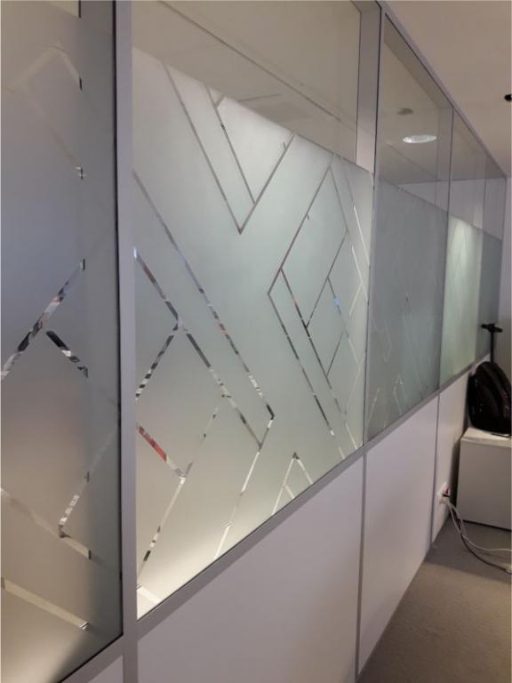 Décor sur cloisons de bureaux